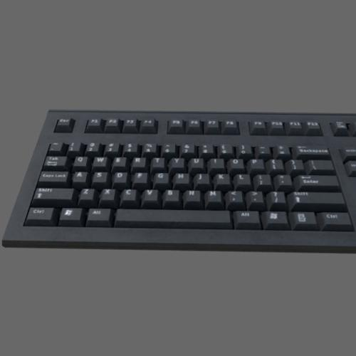 Low poly Keyboard (Game ready) preview image