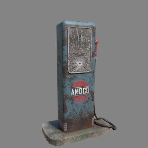 Old gas pump (Game ready) preview image