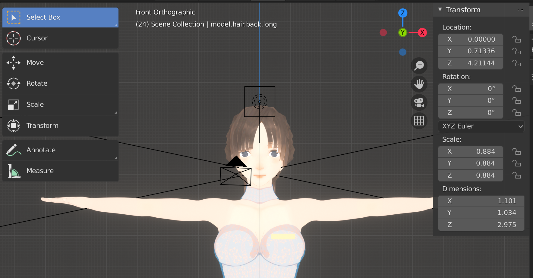 Base Female Model with Anime Face preview image 1
