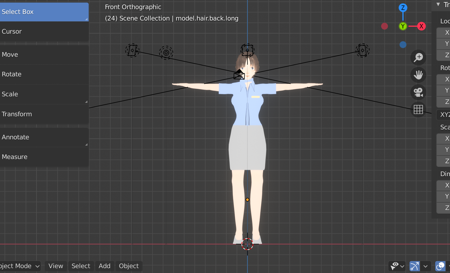Base Female Model with Anime Face preview image 2