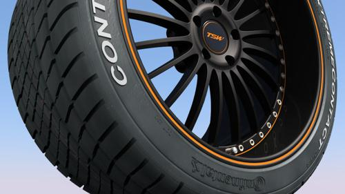 UPDATED!!! TSW wheel w. Conti ExtremeContact DWS tyre Lower Poly preview image