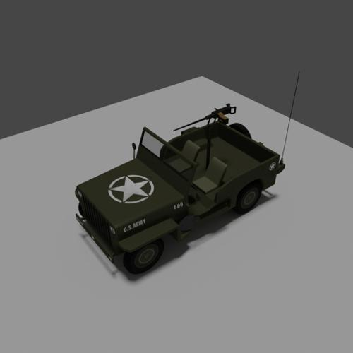 Military vehicle US Army Willys Jeep preview image