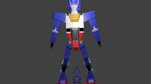 Gundam X Optimus Prime Low Poly preview image