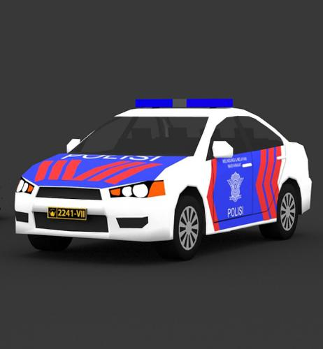 Indonesia Police Patrol Car preview image