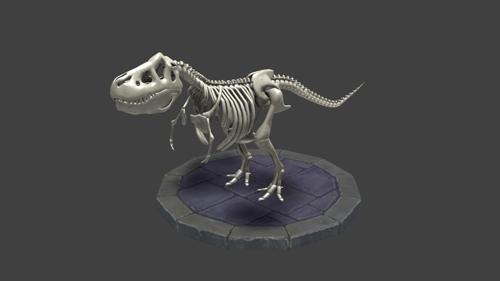 T-Rex skeleton rigged and animated preview image