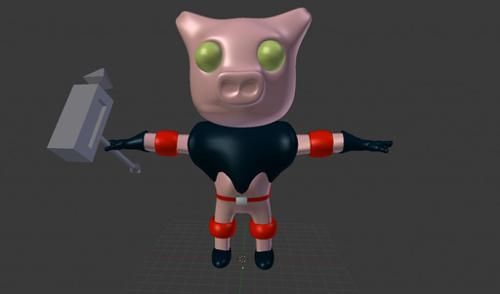 Fantasy Space Pig  preview image