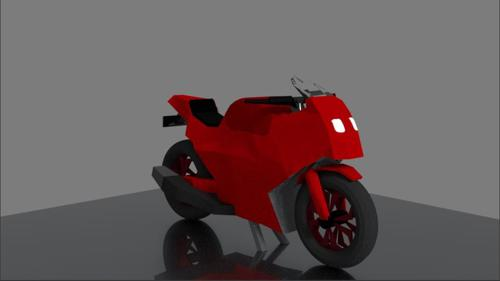 Low-Poly Sports Bike preview image