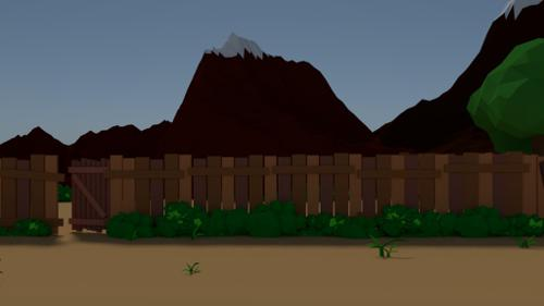 Lowpoly Cliff preview image