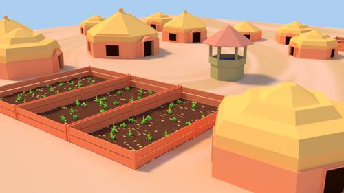 Low-Poly Village preview image
