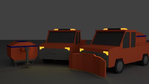 Low poly Truck (with customization) preview image