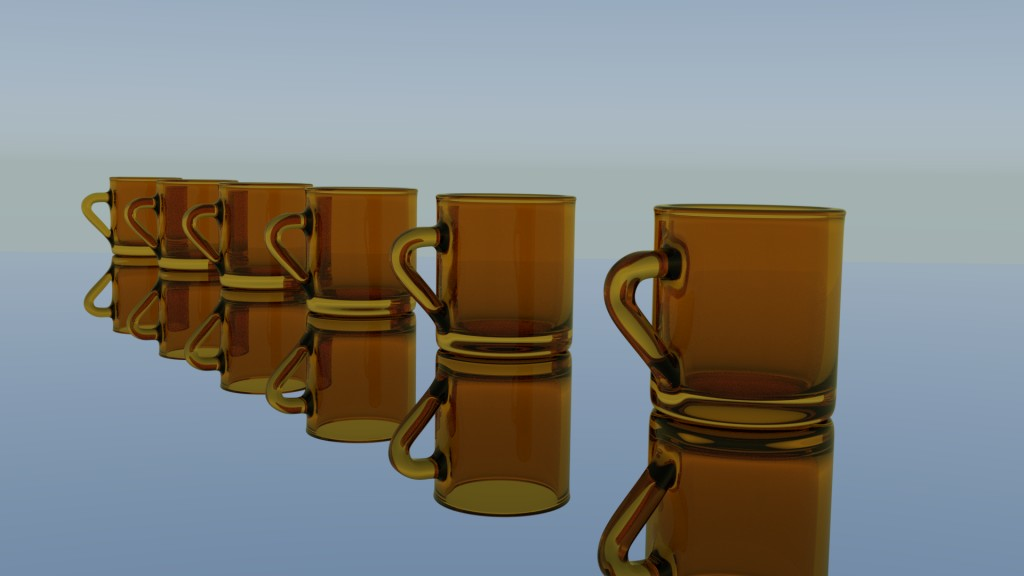 Simple glass cup preview image 1