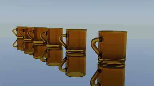 Simple glass cup preview image
