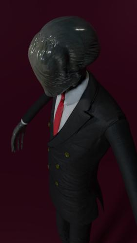 Slender Man Textured 4K preview image