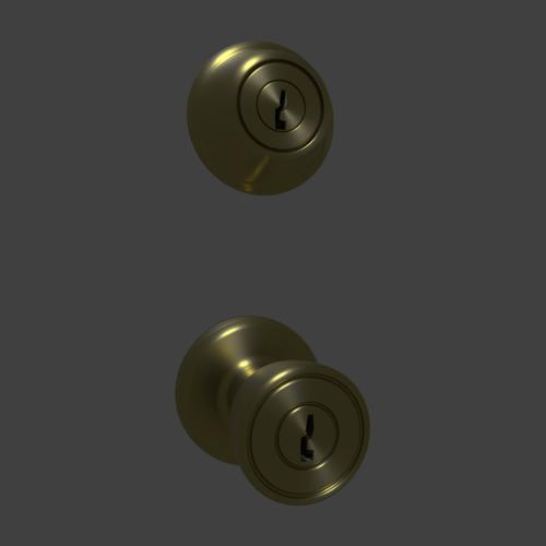 Door Knob and Lock Keyed Set preview image