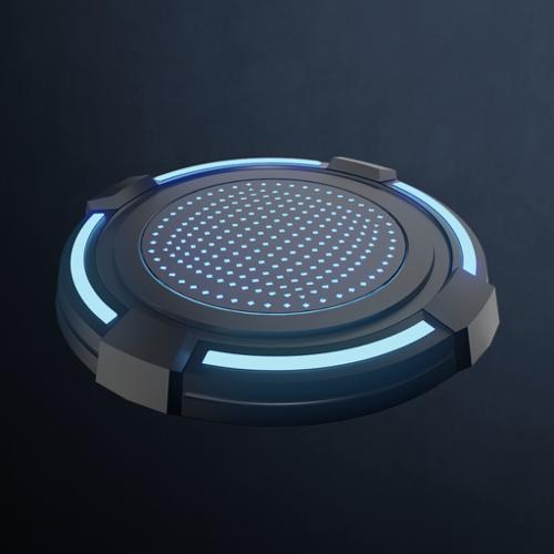 Scifi pedestal turntable preview image