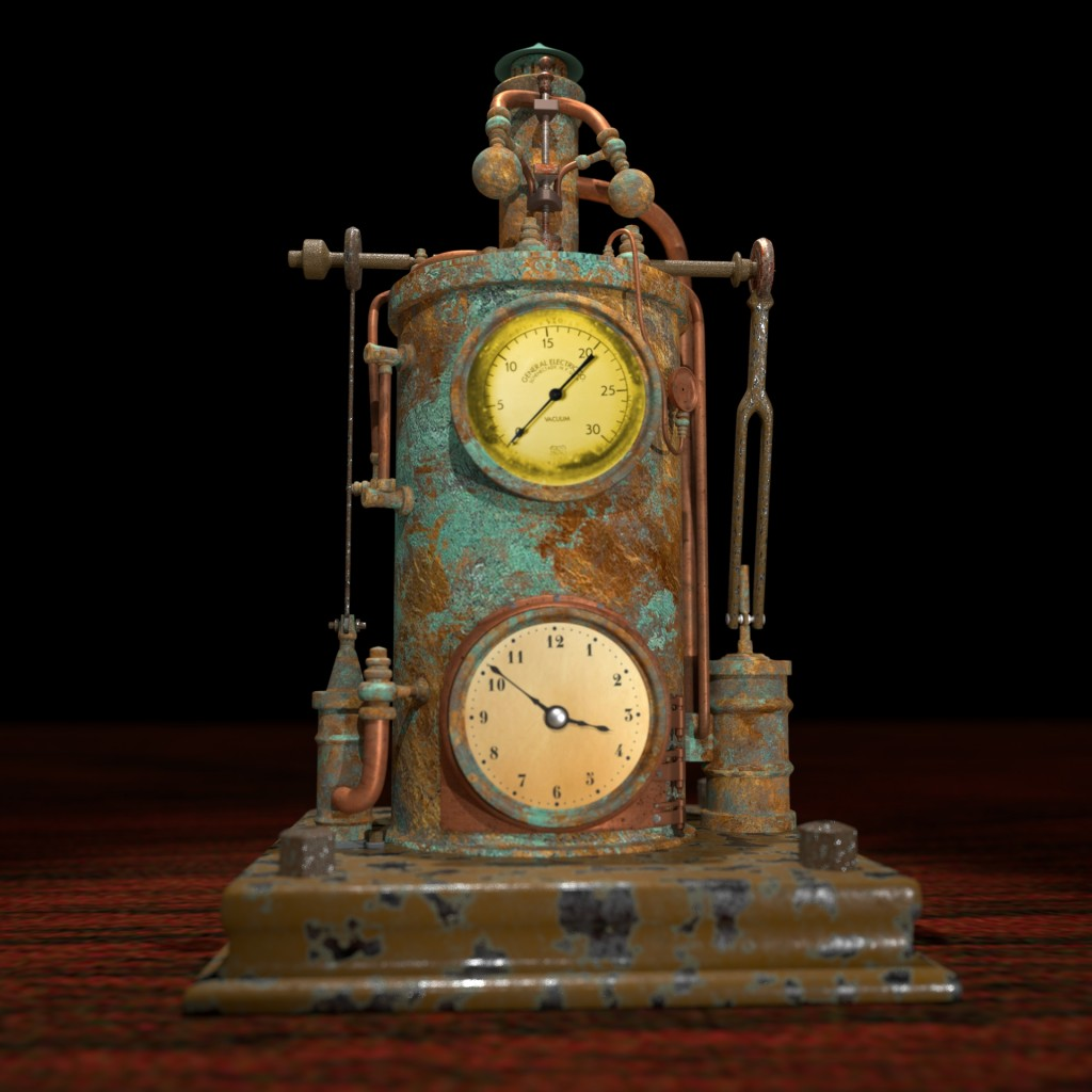 Steam Powered Clock preview image 1