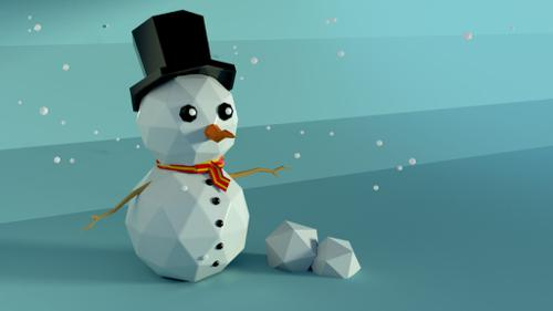 Lowpoly Snowman preview image