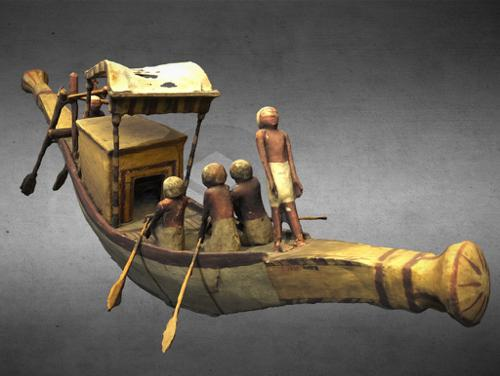 Model funerary barque of Mersou preview image