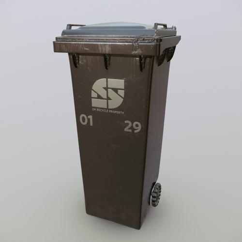 Garbage Bin PBR preview image
