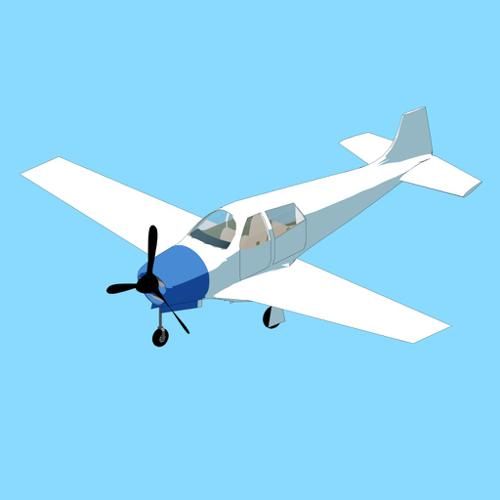 Rigged airplane preview image