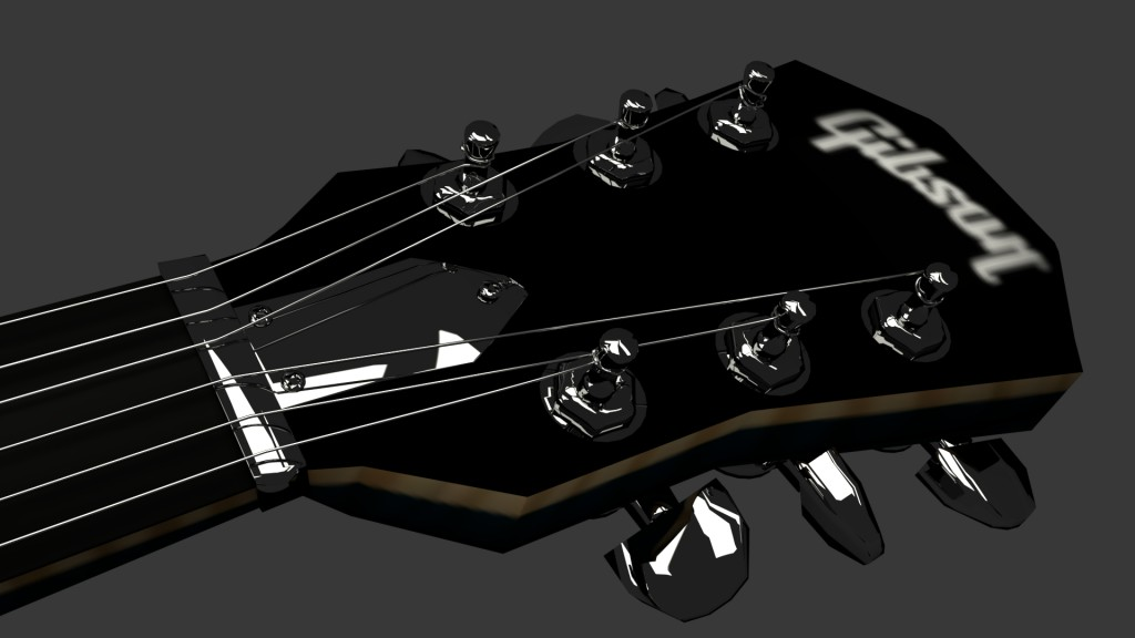 Stylised Gibson Es-335 3D model preview image 3