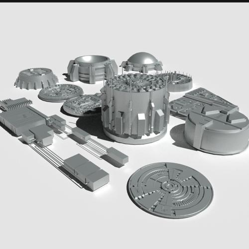 Round objects for sci-fi preview image