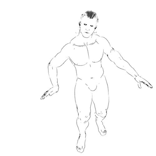 Line Art Muscular Man preview image