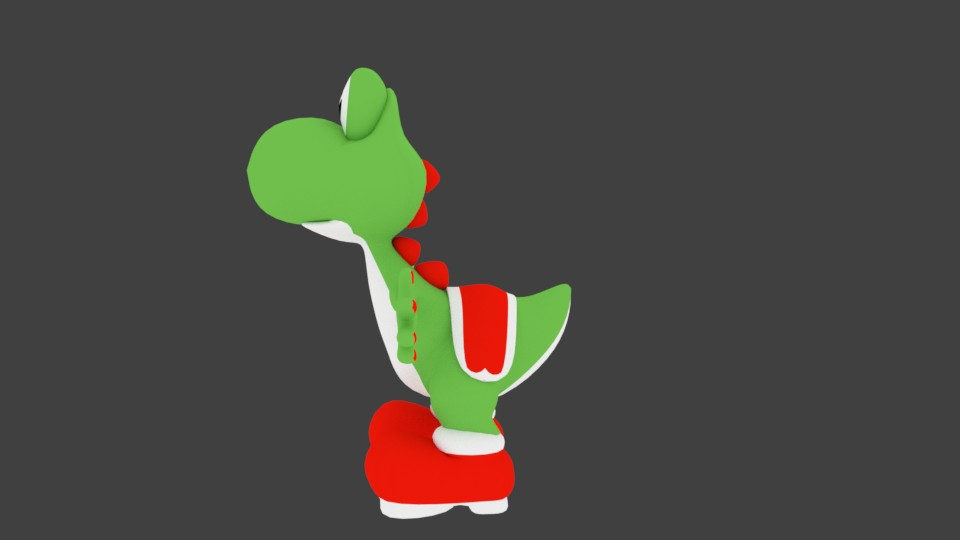 yoshi 3d low poly preview image 2