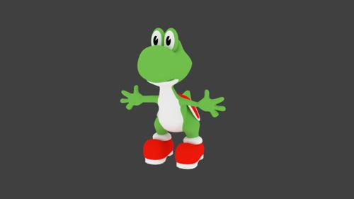 yoshi 3d low poly preview image