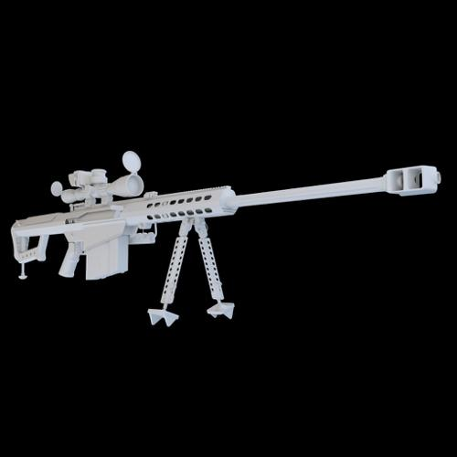 Barrett M82 - highpoly preview image