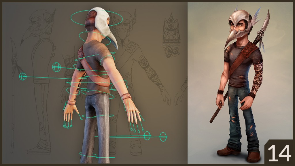 CGC Classic: Low Poly Character with Skull Helmet preview image 3
