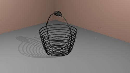 Metal basket - round preview image