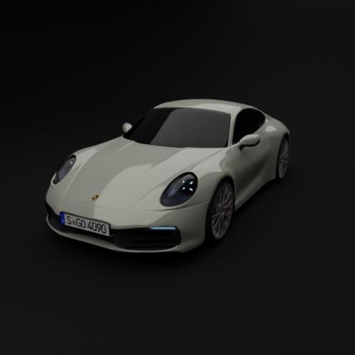 Realistic new 2020 porsche 911 carrera 4s 992 with materials preview image