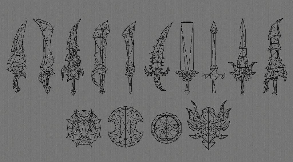 Low-Poly Weapons preview image 4