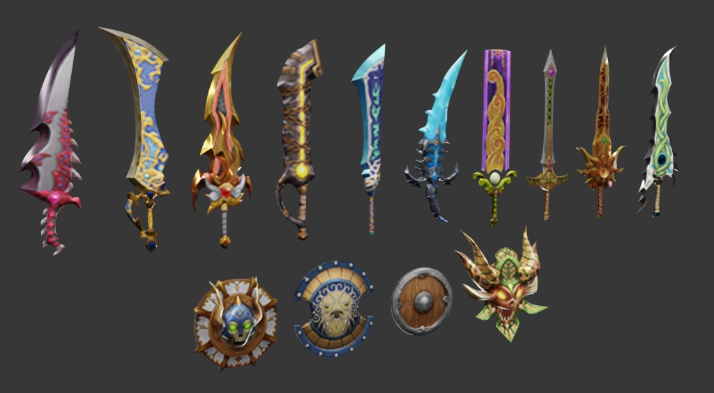 Low-Poly Weapons preview image 3