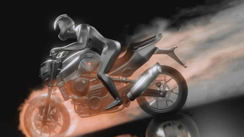 Motorcycle Fire Logo Reveal - Blender 2.8 preview image 1