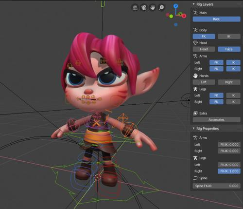 Lily rig from Artella for blender 2.80 beta & 2.79 preview image
