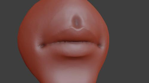 mouth/lips sculpt preview image