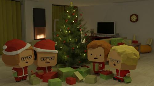Christmas living room preview image