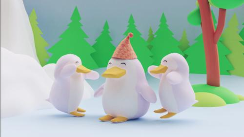 Penguin 3d model preview image