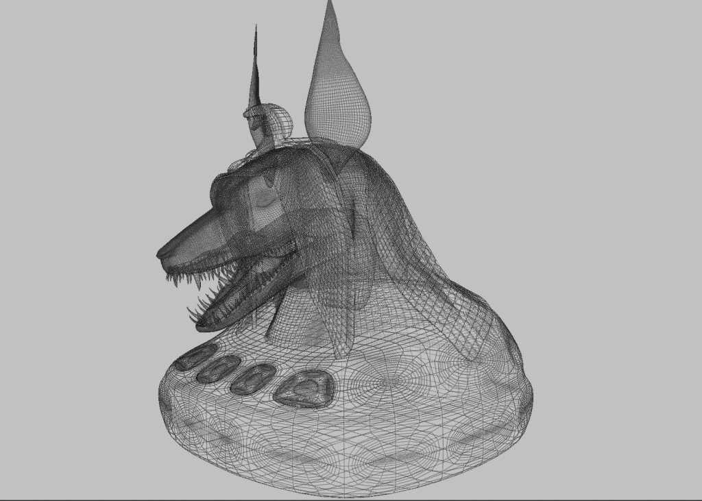 Anubis head (white) preview image 3