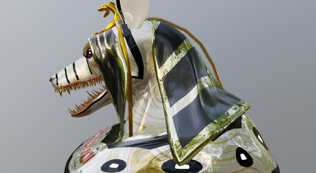 Anubis head (white) preview image 2