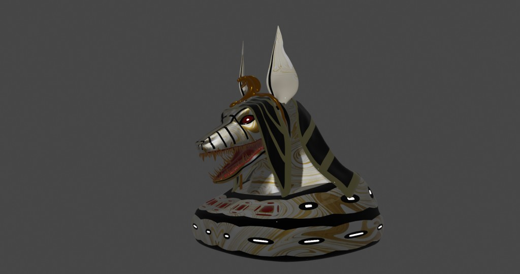 Anubis head (white) preview image 1