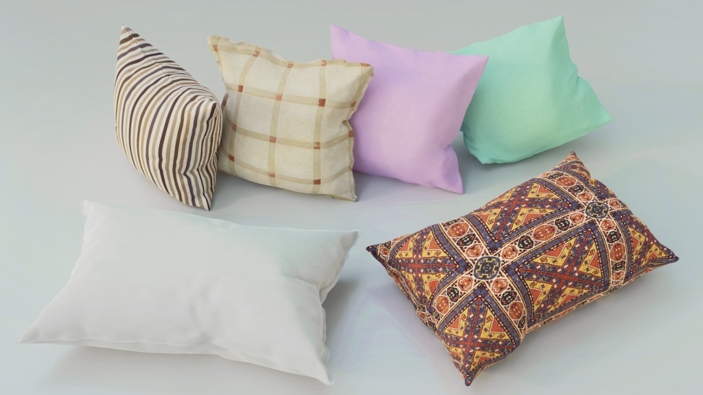 Pillows 3d model Collection preview image 1