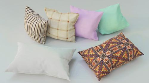 Pillows 3d model Collection preview image