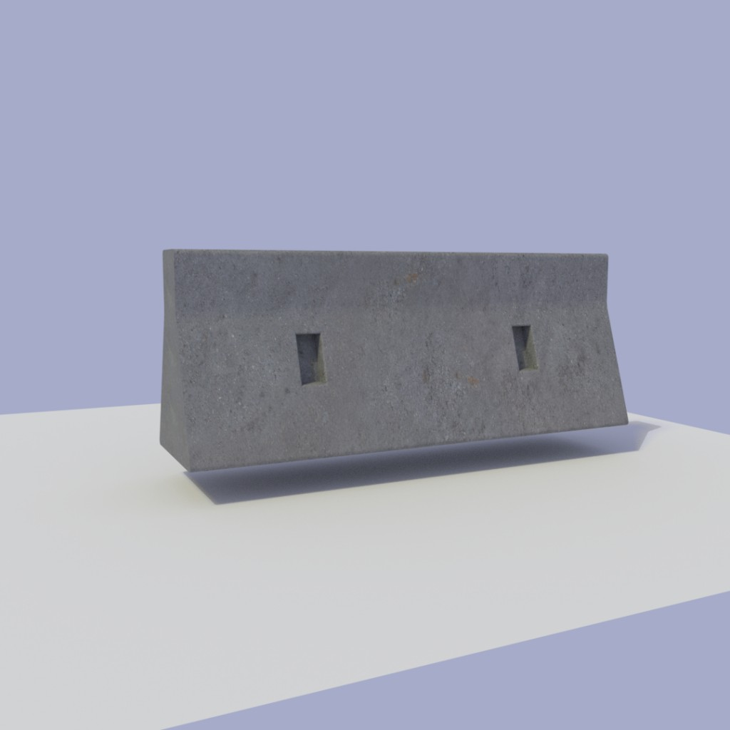 Concrete barrier preview image 1