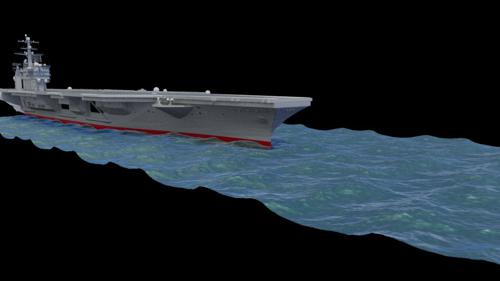 Ocean ship wake simulations preview image