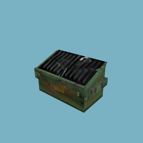 Dumpster textured for the Blender game engine preview image