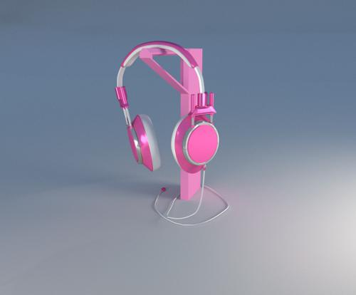 Pink Headphones preview image