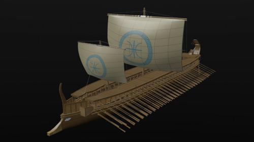 GREEK TRIREME (updated) preview image
